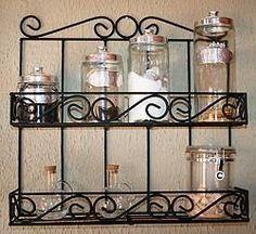 prateleira em ferro para objetos de decoração temperos                                                                                                                                                                                 Mais