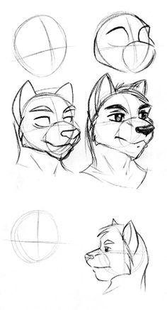 How to draw anthro heads | Draw Furry – how to draw furry art, photoshop tutorials, comics and manga tips
