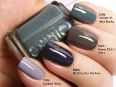 Essie Nail Color, All Tied Up. fringe Golden Touch Bodysuit by Maxim models Essie Fall/Winter (I need all of them. Love Nails, How To Do Nails, Fun Nails, Pretty Nails, Essie Colors, Nail Colors, Pastel Colors, Colours, Neutral Colors