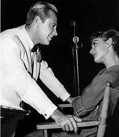 William Holden & Audrey Hepburn. They were in love but William Holden didn't want children so that was that.
