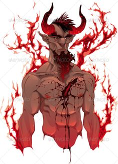 Devil. Demon's portrait.  #GraphicRiver         Devil. Demon's portrait. Vector isolated illustration.   Folder contains: EPS file; High Resolution JPG file; High Resolution layered PSD file; Low Resolution PNG file.   In EPS and PSD files there are 4 levels: Head, Blood, Body and Flames. You can easily remove Flames and Blood to have nude body.     Created: 21May11 GraphicsFilesIncluded: PhotoshopPSD #TransparentPNG #JPGImage #VectorEPS Layered: Yes MinimumAdobeCSVersion: CS