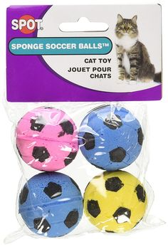 SPOT Sponge Soccer Balls Cat Toy *** Continue to the product at the image link. (This is an affiliate link and I receive a commission for the sales)