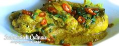 Kari Ayam - Gekookte kip in kokosmelk - Chicken cooked in coconut milk