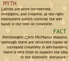Myths and facts about left-handed people