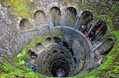 ✣ The Initiation Well in the town of Sintra, Portugal - known as The Inverted Tower A journey of rebirth and self discovery is the concept behind the Initiation or Initiatic Well at Quinta da Regaleira in Sintra. The 27 metre deep well, resembles an inverted tower, and depending on the direction you choose... To read more; >> https://www.facebook.com/photo.php?fbid=375245279265648=pb.190940701029441.-2207520000.1372831672.=3