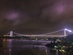 The Bosphoures İstanbul at night.
