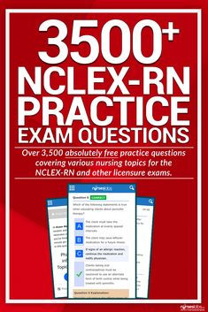 Here's our growing collection of NCLEX Practice Questions you can use for your upcoming licensure exams for FREE! There are over 3500 items in this set alone with a wide range of topics to choose from.