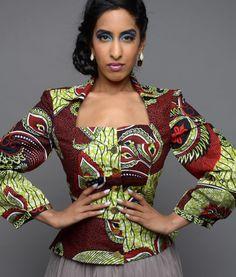 Efe-shine Ankara Jacket ~African fashion, Ankara, kitenge, African women…