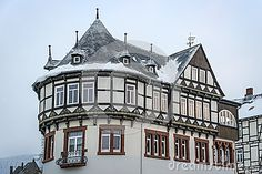 Detail view half-timbered house in Goslar, Germany
