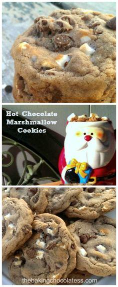 'Comfy Cozy' Hot Chocolate & Marshmallow Cookies via @https://www.pinterest.com/BaknChocolaTess/