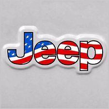 PAIR (2) JEEP American Flag Stickers/Decals JEEP TJ XJ JK WRANGLER FENDER