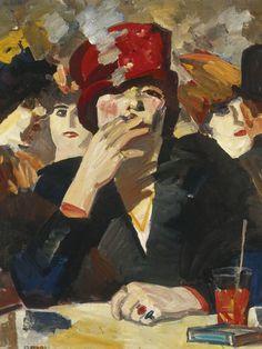 Kees Maks (Dutch, 1876-1967 : Night Cafè, c. 1910.