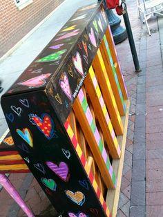 Painted piano by Dori Patrick. Downtown Cedar Rapids, Iowa