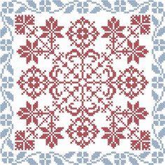 Cross Stitch Pillow, Cross Stitch Borders, Cross Stitch Designs, Cross Stitching, Cross Stitch Embroidery, Cross Stitch Patterns, Crochet Diagram, Crochet Motif, Mandala
