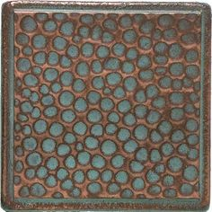 "Castle Metals 2"" x 2"" Hammered Dot Decorative Accent Tile in Aged Copper"