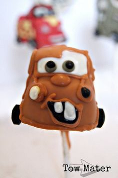 tow mater from cars cake pop