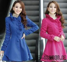 Find More Wool & Blends Information about 2014 new women's long standing collar falbala big pendulum wool coat,High Quality Wool & Blends from Online Store 621948 on Aliexpress.com