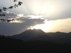 beautiful mountain light