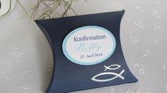 Gastgeschenk Tischdeko Konfirmation Kommunion blau von KartenScrape auf DaWanda.com