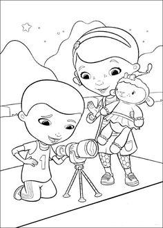 Dibujos para Colorear. Dibujos para Pintar. Dibujos para imprimir y colorear online. Doctora Juguetes 3