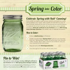 Enter to win a $500 gift card to Ace Hardware and a case of the gorgeous new Spring Green Heritage Collection Jars! #contest #heritagecollection