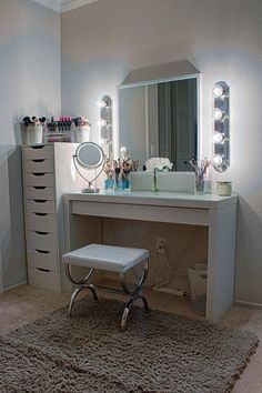 My Vanity Setup- So happy with how it turned out!