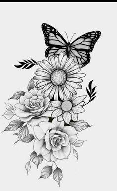 Dope Tattoos For Women, Badass Tattoos, Sleeve Tattoos For Women, Tattoo Sleeve Designs, Half Sleeve Tattoo Stencils, Rose Tattoos, Body Art Tattoos, Hand Tattoos, Small Tattoos