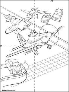 Puzzles Rompecabezas para imprimir para niños Aviones 28