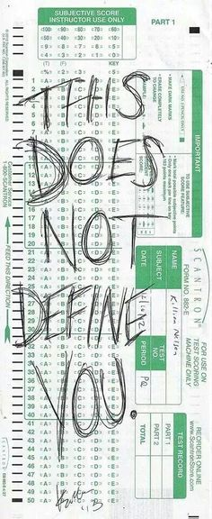Your grades and scores do not define you.
