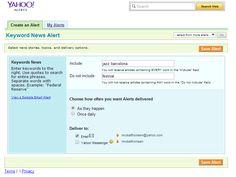 Aplicar coneixements: alerta a Yahoo (en grup)