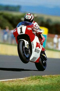 Wayne Rainey, 3 time MotoGP champion, all in a row, before his debilitating injury.