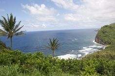 At the northernmost tip of Hawaii Island, at the end of Highway 270, is a lookout over a windswept black sand beach fronting the lush and enclosed Pololu Valley. Many visitors to the Kohala Coast make the journey to its terminus—past the tiny towns of Hawi and Kapaau—to take in the panoramic view at the Pololu Valley Overlook, but fewer follow the winding Pololu Trail, a section of the longer Awini Trail, down the Kohala mountain cliff face, across the freshwater stream bisecting the valley…