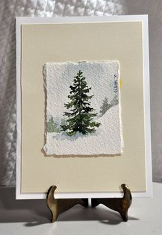 And Mesmerizing Miniature Watercolor Paintings - Bored Art Solchen Stand er etc.Magical And Mesmerizing Miniature Watercolor Paintings - Bored Art Solchen Stand er etc. Watercolor Trees, Watercolor Cards, Watercolor Landscape, Simple Watercolor, Watercolor Pictures, Watercolour Paintings, Watercolor Artists, Painting & Drawing, Painting Trees
