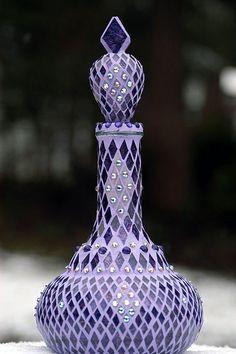 I dream of genie lavender glass bottle