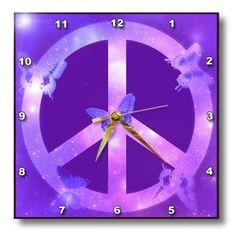 3dRose dpp_40234_1 Universe Peace Sign Purple Butterflies Inspirational Art Wall Clock, 10 by 10-Inch 3dRose http://www.amazon.com/dp/B0079NBZNW/ref=cm_sw_r_pi_dp_R1ePub1FV23XD