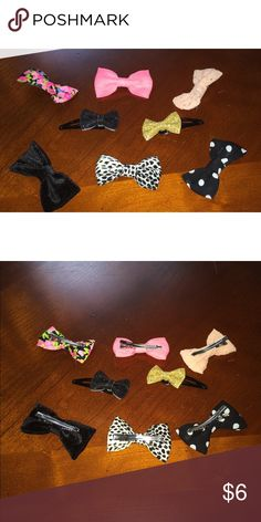 Forever 21 Bows 8 Bows! Buy them all! From forever 21, not really my style anymore but are in perfect condition! (If you only want a couple comment! Will negotiate.) Forever 21 Accessories Hair Accessories