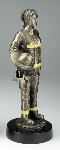 Brave Female Firefighter Figurine