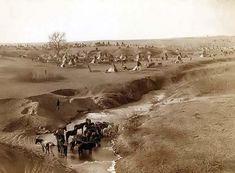 Lakota Sioux Indian Village