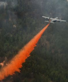 forest fires  -- love watching the fire retardant planes at work