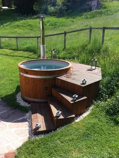 Liteň is a market town and municipality in Beroun District in the Central Bohemian Region of the Czech Republic. Hot Tub Deck, Hot Tub Backyard, Hot Tub Garden, Backyard Patio, Backyard Landscaping, Spa Design, Garden Design, Outdoor Bathtub, Outdoor Bathrooms