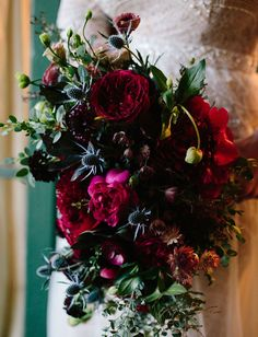 dark moody bouquetold world charm Moody Wedding Colour Scheme Moody Wedding Decor Dark Colours Black Purple Moody Wedding Ceremony Moody Wedding Reception Moody Wedding Ideas Moody Wedding Inspiration Jewel Tone Wedding, Burgundy Wedding, Floral Wedding, Fall Wedding, Wedding Bouquets, Wedding Decor, Wedding Ideas, Bohemian Wedding Flowers, Protea Wedding