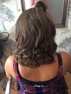 at the weekend i did a curly blowdry with a little bit of back combing
