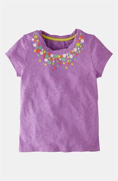 Mini Boden 'Pretty' Embroidered Tee (Toddler, Little Girls & Big Girls) | Nordstrom