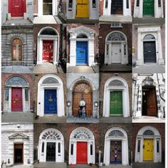 I want to paint my door a bold color after we paint our house. Ireland style. :)