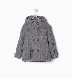Veste en maille avec deux rangées de boutons - Manteaux - Garçon   3 - 14 ans - ENFANTS   ZARA France