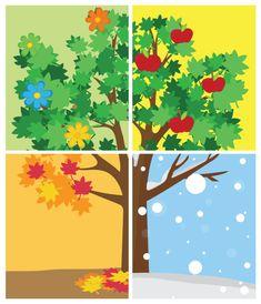 Ένα εκτυπώσιμο παιχνίδι με κάρτες που θα βοηθήσει τα παιδιά να μάθουν τις 4 εποχές καθώς και τις αλλαγές που φέρνει η κάθε εποχή. Montessori Activities, Activities For Kids, Cut And Paste Worksheets, Fall Crafts For Kids, School Decorations, Teaching Tools, Printables, Seasons, Children