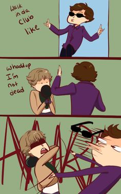 someone said she should hit him with a pan so (Sorry-- if you don't do BBC Sherlock fandom, this makes zero sense.)