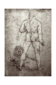 Hercules and the Nemean Lion, c.1504-8 Giclee Print at AllPosters.com