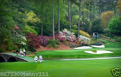 Augusta Golf Course Amen Corner Picture Set of 2 Images Pictures Wall Decor RARE