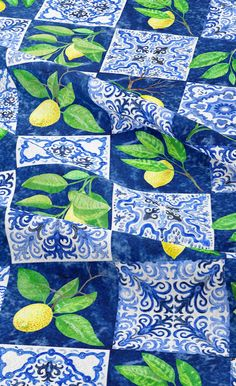 We freely ship to All the world by DHL Express and Tracking Number will be provided. #Velvet #Lemon_Majolica #Home_Decor #Blue_White #Patchwork #Cushion #Curtain White Cushions, Velvet Cushions, Patchwork Fabric, Patchwork Cushion, Dressmaking Fabric, Draped Fabric, Cushion Fabric, Home Decor Fabric, Throw Pillow Cases